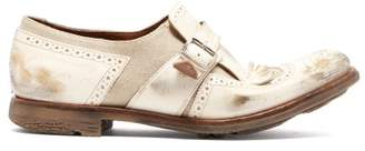 Church's Shanghai Distressed Leather Buckled Brogues - Womens - White