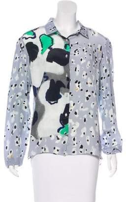 Michael Van Der Ham Silk Button-Up Top w/ Tags