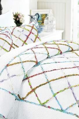 California Design Den by NMK Kaleidoscope Ruffle Duvet Cover Set - White