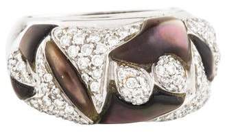 Mother of Pearl Andreoli 18K & Diamond Cocktail Ring