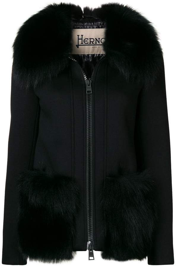 Herno fox fur trimmed jacket