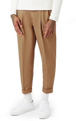 Men's Topman Pleated Tapered Fit Trousers $75 thestylecure.com