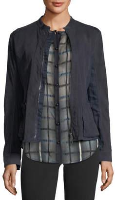 Emporio Armani Zip-Front Suede Jacket