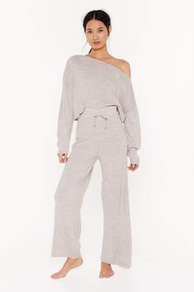 Nasty Gal Womens Slow Down Jumper And Jogger Lounge Set - Beige - 6