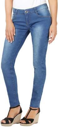 KRISP Creased Dark Skinny Jeans (Navy, US 2),[5330-NVY-06]