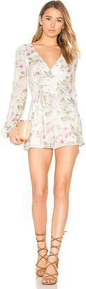MAJORELLE Rosebud Romper in White $218 thestylecure.com