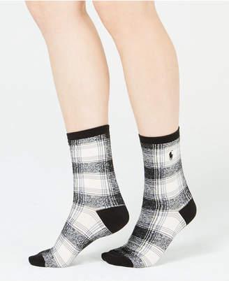 Polo Ralph Lauren Ombre Plaid Trouser Socks