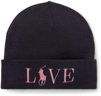 Ralph Lauren Pink Pony Wool-Blend Hat