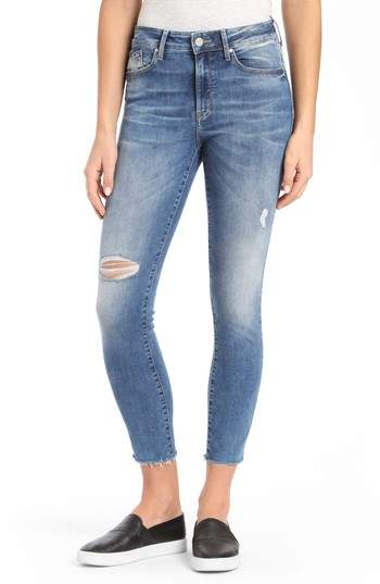 Alissa Ripped Ankle Skinny Jeans