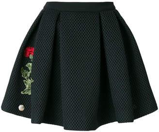Philipp Plein rose patch mini skirt