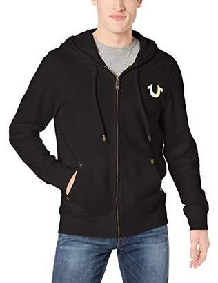 True Religion Men's Metallic Horseshoe Hoodie,L