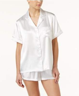 Linea Donatella Bride-Embroidered Boyfriend Short Pajama Set