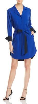 Badgley Mischka Color-Block Shirt Dress