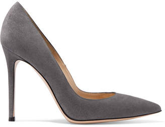 Gianvito Rossi 105 Suede Pumps - Dark gray
