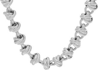 "Judith Ripka Verona 20"" Sterling Link Necklace 87.0g"