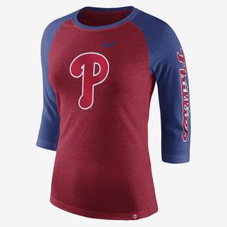 Nike Tri-Blend Raglan (MLB Phillies) Women's 3/4 Sleeve Top