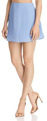 Olivaceous Polka Dot Mini Skirt