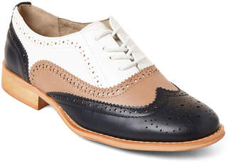485715426803 Famous Designer Navy   Taupe Brogue Oxfords