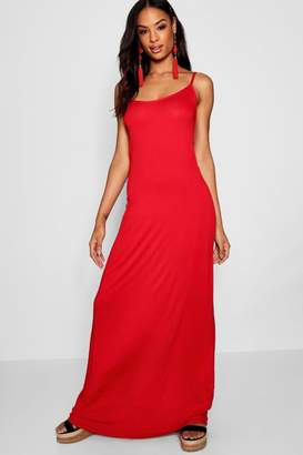 boohoo Tall Cross Back Strappy Maxi Dress