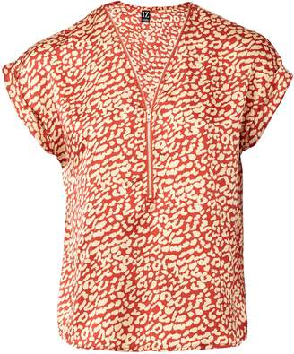 d0307510df4d02 Dorothy Perkins Womens *Izabel London Red Animal Print Blouse