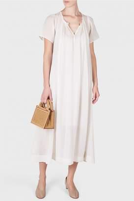 Raquel Allegra Gauze Flutter Maxi Dress