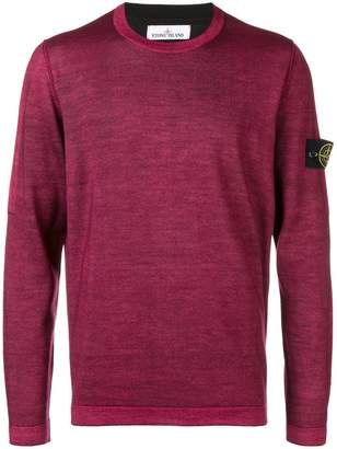 Stone Island logo patched sleeve jumper