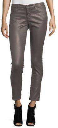 AG Vintage Leatherette Ankle Leggings, Bordeaux Brown $235 thestylecure.com