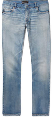 Balenciaga Stretch-Denim Jeans - Men - Light blue