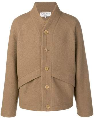 YMC single-breasted fitted coat
