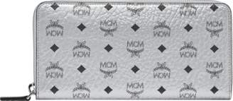 MCM Zip Around Wallet In Visetos Original