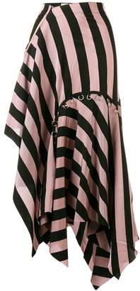 Marques Almeida Marques'almeida asymmetrical striped skirt