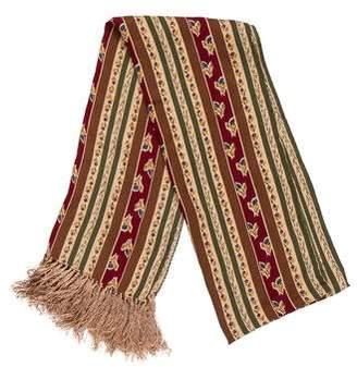 Giorgio Armani Striped Silk Scarf