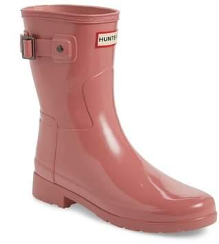Hunter 'Refined Short' Gloss Rain Boot
