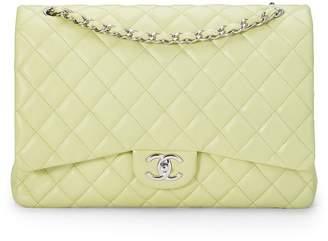 Chanel Green Lambskin New Classic Flap Maxi