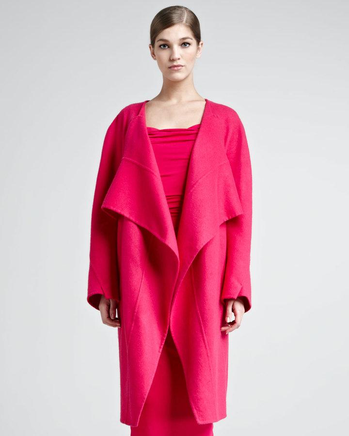 Donna Karan Double-Face Cashmere Coat