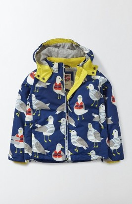 Boy's Mini Boden Jersey Lined Anorak $64 thestylecure.com