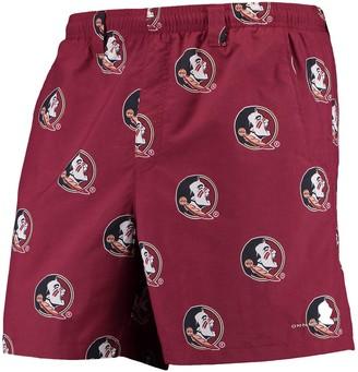"Columbia Unbranded Men's PFG Garnet Florida State Seminoles Backcast II 6"" Omni-Shade Hybrid Shorts"
