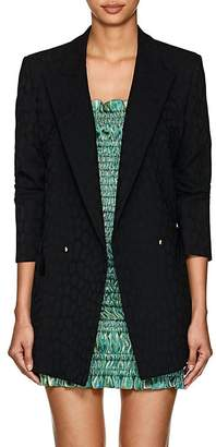 BLAZÉ MILANO Women's Everyday Leopard Jacquard Wool Double-Breasted Blazer