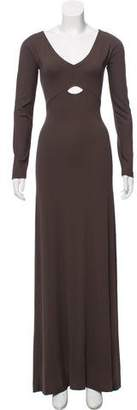 Narciso Rodriguez Long Sleeve Maxi Dress