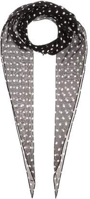 Saint Laurent Polka-dot silk scarf