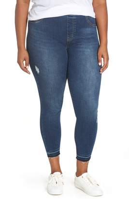 Spanx R) Distressed Denim Leggings