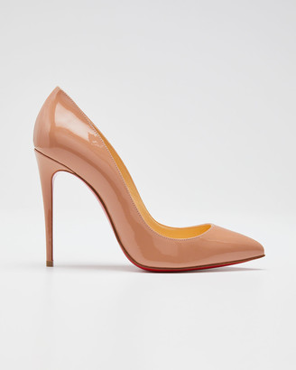 Christian Louboutin Pigalle Follies Patent Pointed-Toe Red Sole Pump