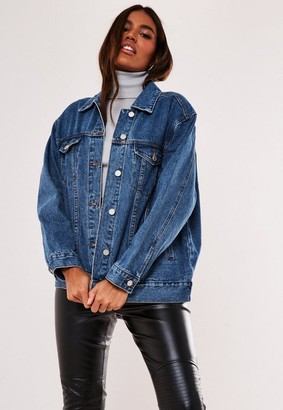 Missguided Blue Oversized Denim Jacket