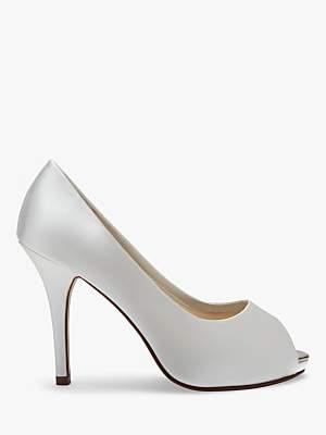 52c2653fd016 PeepToe Rainbow Club Jennifer Satin Platform Peep-Toe Court Shoes