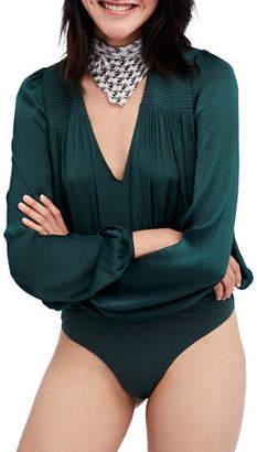 Free People Long Sleeve V-Neck Bodysuit