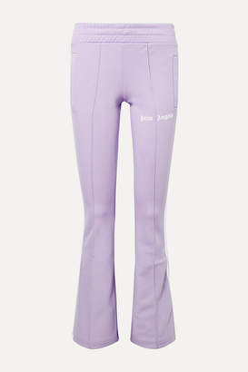 Palm Angels Striped Satin-jersey Track Pants - Lilac