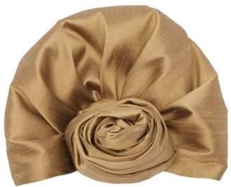 Julia Clancey - Reversible Silk Turban Hat - Womens - Gold