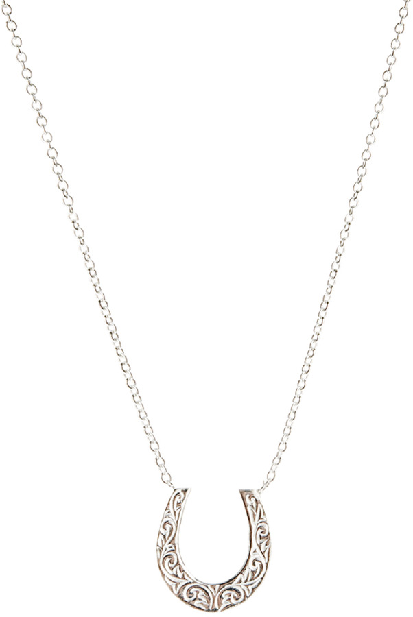 Laura Lee Jewellery Silver Horseshoe Necklace