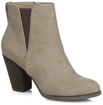 Call it SPRING Taupe 'Pydia' High Block Heel Ankle Boots