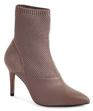 Reiss Women's Cosmos Leather & Knit High-Heel Boots